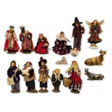 Krippenfiguren Set Alpenländisch 15 Teilig