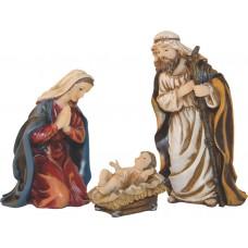 Krippenfiguren Set Heilige Familie 3 Teilig